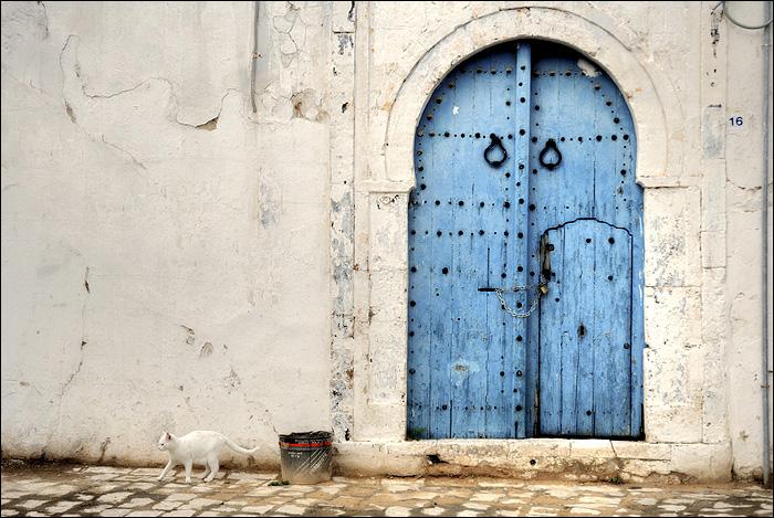 Porte bleue de sidi bou sa d for Decoration porte sidi bou said