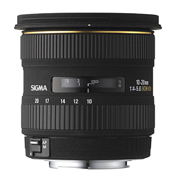 Objectif Grand Angle : SIGMA 10-20 mm F4-5,6 DC EX